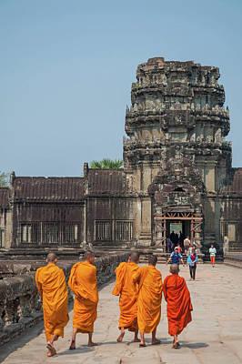 Anchor Down Royalty Free Images - Buddhist Monks at Angkor Wat Royalty-Free Image by Rob Hemphill
