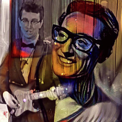 Music Mixed Media - Buddy Holly by Russell Pierce