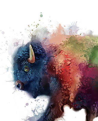 Everett Collection - Buffalo Colorful Portrait by Bekim M