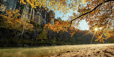 When Life Gives You Lemons - Buffalo National River Autumn Sunrise Along Roark Bluff Panorama by Gregory Ballos