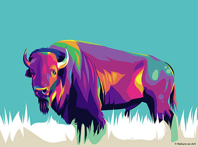 Royalty-Free and Rights-Managed Images - Buffalo by Stars on Art