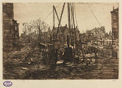The Beach House - Building Site, Amsterdam Date unknown George Hendrik Breitner  by MotionAge Designs