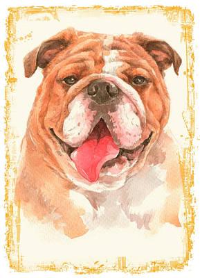 Pasta Al Dente - Bulldog Dog by John Shepherd