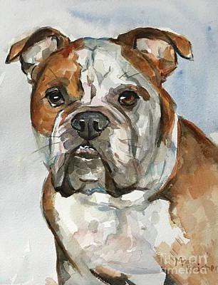 Painting - Bulldog by Maria Reichert