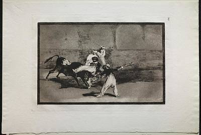 The Beach House - Bullfights A Moor Caught by a Bull in the Ring 1816, printed 1876 Francisco de Goy by MotionAge Designs