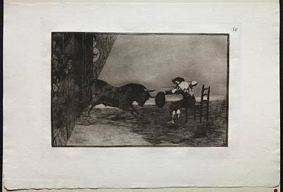 The Beach House - Bullfights The Daring of Martincho in the Ring at Saragossa 1816, Francisco de Goya by MotionAge Designs