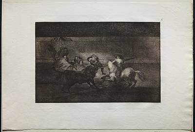 The Beach House - Bullfights The Death of Pepe Illo  3rd Composition 1816, printed 1876 Francisco de Goya by MotionAge Designs