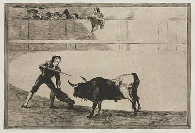 The Beach House - Bullfights The Spirited Moor Gazul is the First to Fight According to the Rules 1816, Francisco de  by MotionAge Designs