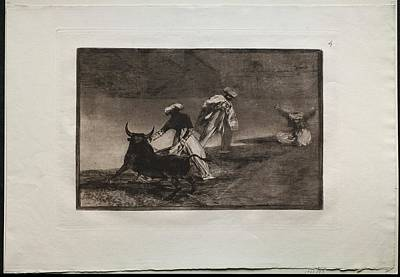 The Beach House - Bullfights They Play Another with the Cape in an Enclosure 1816, Francisco de Goya by MotionAge Designs