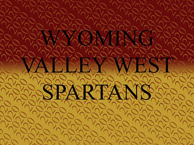 Crystal Wightman Rights Managed Images - Burgundy Gold Wyoming Valley West Spartans Royalty-Free Image by Crystal Wightman