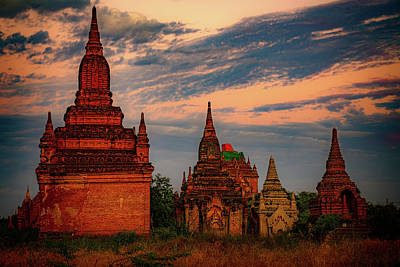 Advertising Archives - Burmese Stupas At Sunset by Chris Lord
