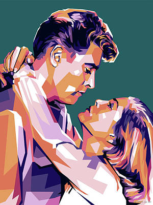 Royalty-Free and Rights-Managed Images - Burt Lancaster and Lizabeth Scott by Stars on Art