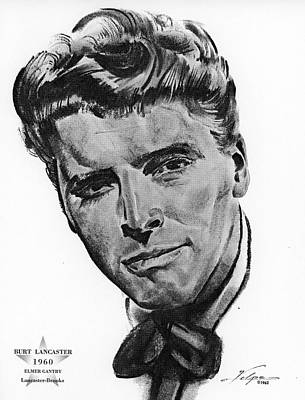 Drawings Royalty Free Images - Burt Lancaster by Volpe Royalty-Free Image by Stars on Art