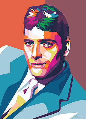 Royalty-Free and Rights-Managed Images - Burt Lancaster illustration by Stars on Art