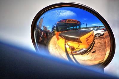 Photograph - Bus Mirror  by David Matthews