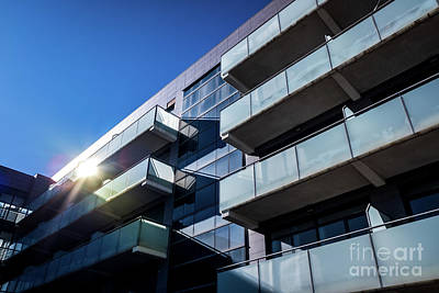 Travel Rights Managed Images - Business office buildings without activity, with calm blue tones Royalty-Free Image by Joaquin Corbalan