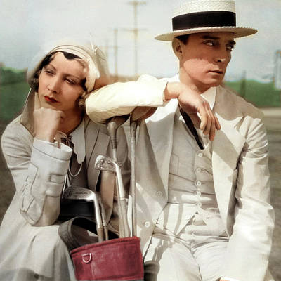 Royalty-Free and Rights-Managed Images - Buster Keaton and Charlotte Greenwood by Stars on Art