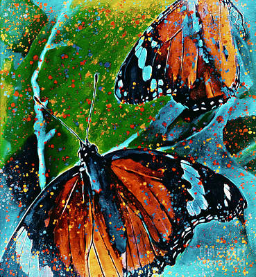 Mixed Media Royalty Free Images - Butterfly Art Royalty-Free Image by Laurie