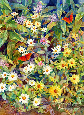 Painting Rights Managed Images - Butterfly Garden Royalty-Free Image by Hailey E Herrera