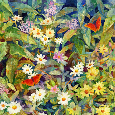 From The Kitchen - Butterfly Garden-Square Format by Hailey E Herrera