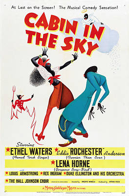 Mixed Media Royalty Free Images - Cabin in the Sky, with Ethel Waters and Lena Horne, 1943 - 2 Royalty-Free Image by Stars on Art