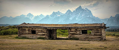 School Teaching - Cabin with a Teton View by Stephen Stookey