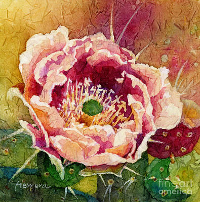 Thomas Kinkade Rights Managed Images - Cactus Blossom 1 Royalty-Free Image by Hailey E Herrera