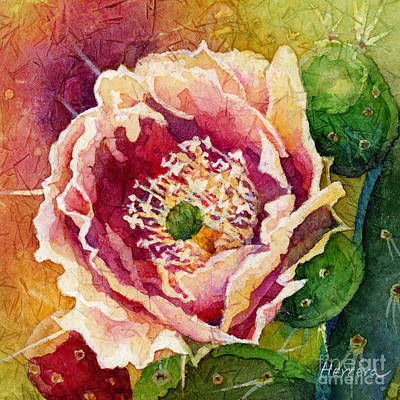 Thomas Kinkade Rights Managed Images - Cactus Blossom 2 Royalty-Free Image by Hailey E Herrera
