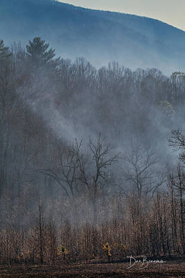 Dan Beauvais Royalty-Free and Rights-Managed Images - Cades Cove Burn 1809 by Dan Beauvais
