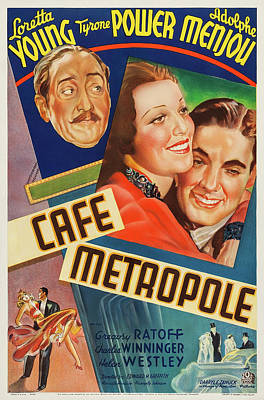 Peacock Feathers - Cafe Metropole poster 1937 by Stars on Art
