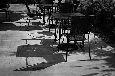 Water Droplets Sharon Johnstone - Cafe Shadows II - Black and White by Suzanne Gaff