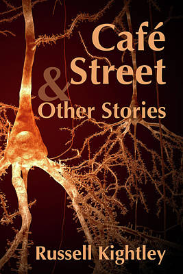 Digital Art - Cafe Street and Other Stories Book Cover by Russell Kightley