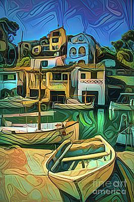 Transportation Digital Art - Cala Figuera by Brian Tarr