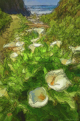 Ballerina Art - Cala Lily Valley 932 by Mike Penney