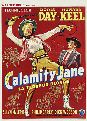 Peacock Feathers - Calamity Jane - 1953 by Stars on Art