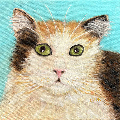 Just Desserts Rights Managed Images - Calico Cat Face Royalty-Free Image by Karen Zuk Rosenblatt