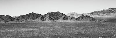 Game Of Chess - California Desert Hills Mountain Landscape Panorama - Black and White by Gregory Ballos