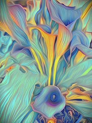 Unicorn Dust - Calla Lilies Abstract by Christina Ford