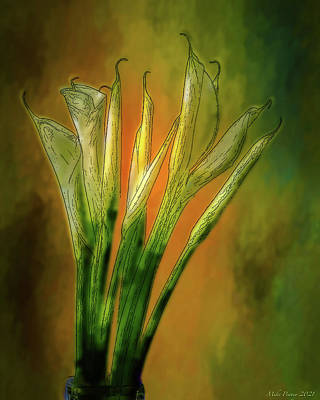 Winter Animals - Calla Lily painting 009 by Mike Penney