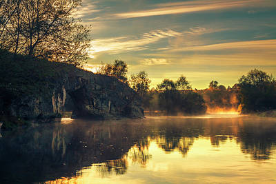 Patriotic Signs - Calm Morn By the River by Evgeni Dinev
