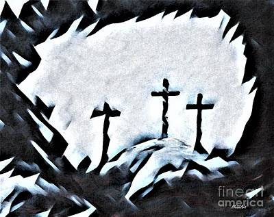 Surrealism Royalty-Free and Rights-Managed Images - Calvary by Eloise Schneider Mote