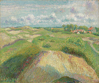 The Beach House - Camille Pissarro 1830 1903 The dunes in Knokke, sun effect by MotionAge Designs