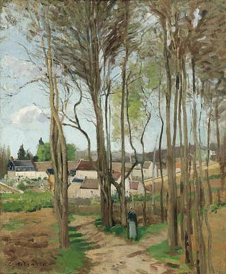 Lake Life - CAMILLE PISSARRO  The village through the trees by MotionAge Designs