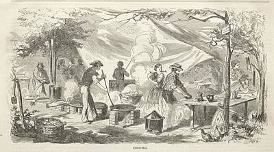 Lake Life - Camp Meeting Sketches Cooking 1858 Part of a set. See all set records Winslow Homer  by MotionAge Designs