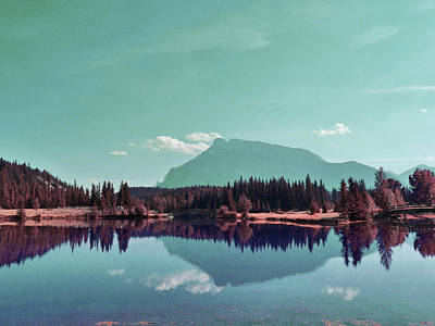 Surrealism Royalty-Free and Rights-Managed Images - Canada Banff Lake Alberta - Surreal Art by Ahmet Asar by Celestial Images