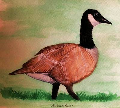 Animals Paintings - Canada Goose by Michael Panno