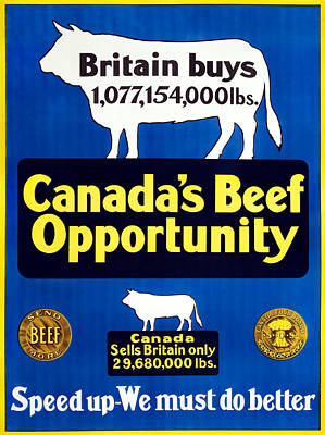 Royalty-Free and Rights-Managed Images - Canadas Beef Opportunity - We Must Do Better - WW1 by War Is Hell Store