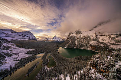 Royalty-Free and Rights-Managed Images - Canadian Rockies Lake OHara Winter Cloudscape by Mike Reid