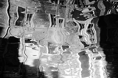 Surrealism Royalty-Free and Rights-Managed Images - Canal Reflections by Mark Robert Davey