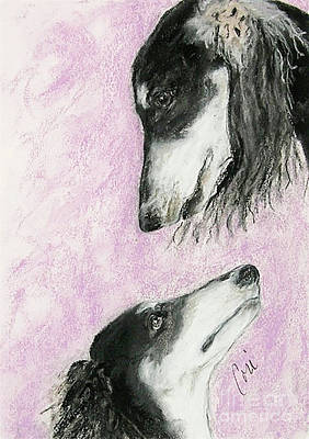 Drawings Royalty Free Images - Canine Admiration Royalty-Free Image by Cori Solomon